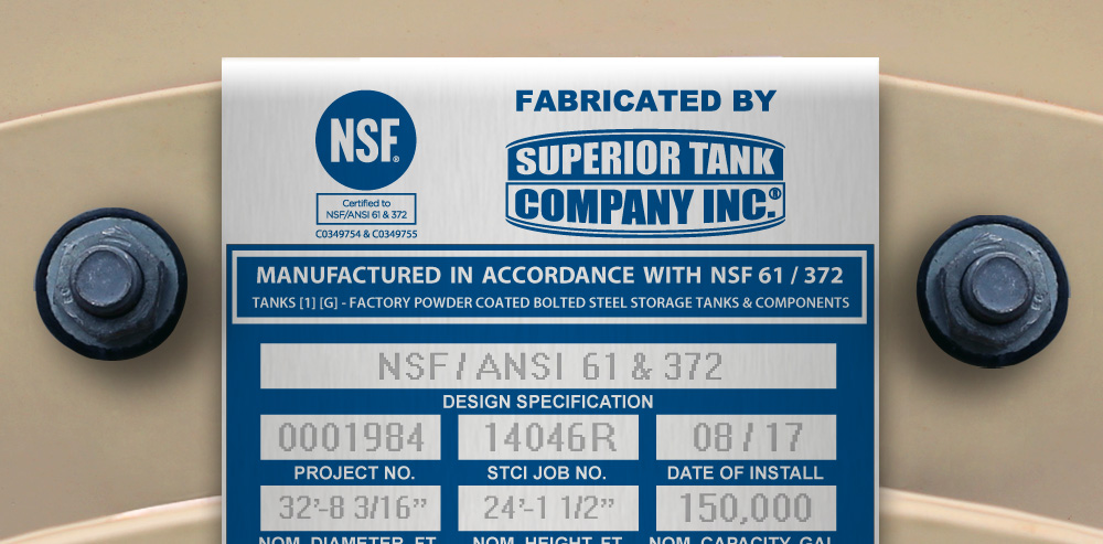 NSF Certified Bolted Tanks