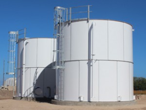 Fire Protection - Factory Powder Coated Bolted Steel Storage Tank