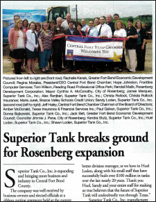RDC News - Superior Tank Expands