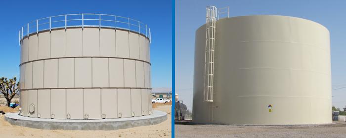 Tipos de tanques de almacenamiento de agua