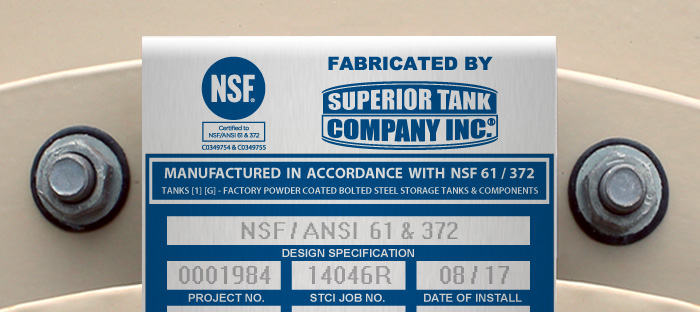 NSF Storage Tanks