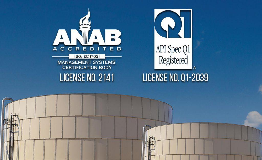 ISO 9001:2015 / API SPEC Q1