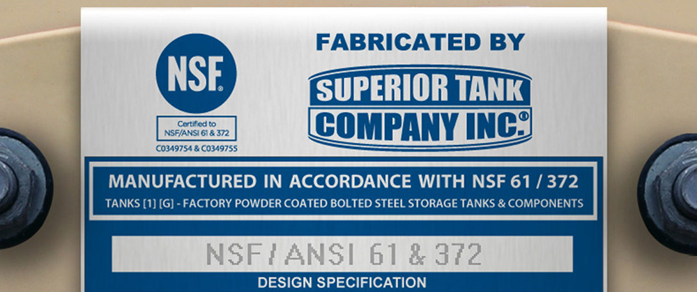NSF Certified Bolted Steel Tanks